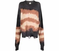 Distressed-Pullover mit Batikmuster