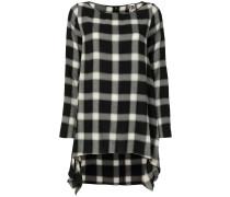 Kariertes Kleid mit asymmetrischem Schnitt