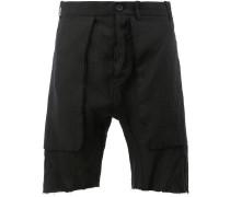 raw edge shorts - men - Leinen/Flachs - 52