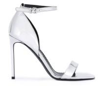 Sandalen im Metallic-Look - women - Kunstleder