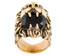 lion crystal ring