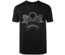 T-Shirt mit siberfarbenem Print - men