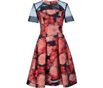 Jacuqard-Kleid mit transparentem Einsatz