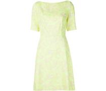 Strukturiertes Kleid mit floralem Print