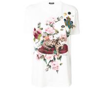 cat appliqué T-shirt