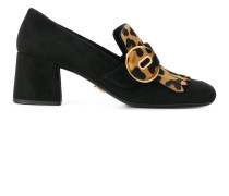 block heeled loafers