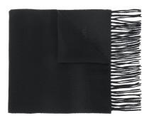 fringed logo scarf