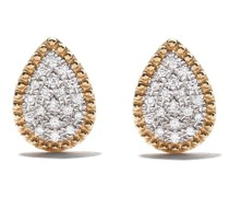18kt 'Mye' Gelbgoldohrringe mit Diamanten