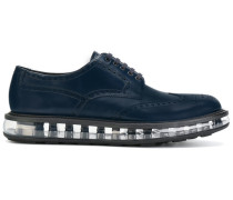 transparent sole loafers