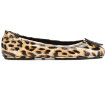 'Minnie' Ballerinas mit Leopardenmuster
