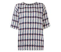 Kurzärmeliger Intarsien-Pullover