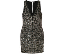 sequined fitted dress
