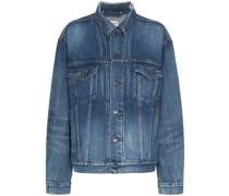 Jeansjacke mit langem Schnitt