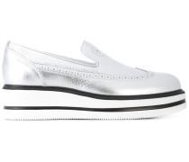 Loafer im Metallic-Look - women - Leder/rubber