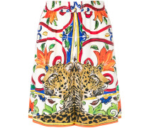 floral leopard shorts