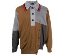Asymmetrischer Patchwork-Pullover