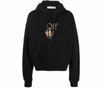 Caravaggio logo cotton hoodie