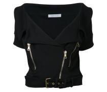 belted cropped jacket - women