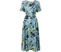 Mittellanges Kleid mit Blumenmuster