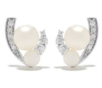 18kt 'Trend' Goldohrringe mit Diamanten