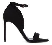 Stiletto-Sandalen mit Rüschen