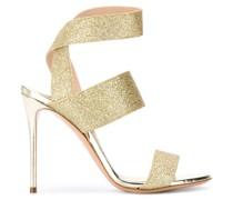 open toe glitter detail sandals
