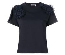 lace applique T-shirt