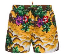 Hawaii beach print swim shorts