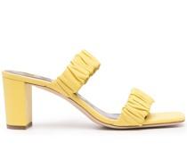 Sandalen mit gerafften Riemen