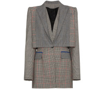 Prince of Wales checked wool blazer