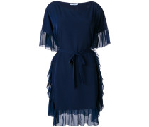 rouche trimmed dress