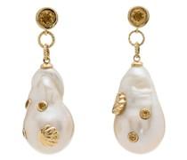 9kt Gelbgoldohringe mit Perlen