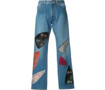 Jeans mit Patchwork-Effekt - women - Baumwolle