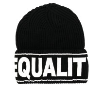 "Strickmütze mit ""Equailty""-Stickerei"