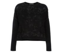lace front jumper - women - Polyester/Viskose