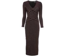 Kleid mit gestreiften Ärmeln