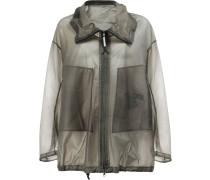 Semi-transparente Oversized-Jacke