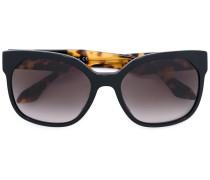 - Oversized-Sonnenbrille mit Kontrastbügeln