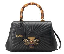 Queen Margaret quilted leather top handle bag