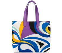 Shopper mit abstraktem Print