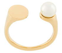 open faux pearl ring