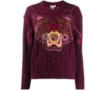 Pullover mit Tigerstickerei
