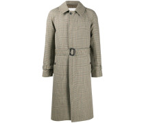 Trenchcoat mit Hahnentrittmuster