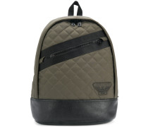 quilted stripe backpack