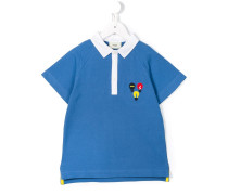 "Poloshirt mit ""Glühbirnen""-Stickerei"