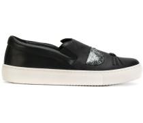 cat motif slipon sneakers