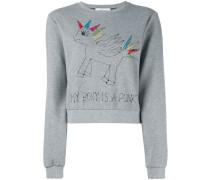 Sweatshirt mit Pony-Stickerei