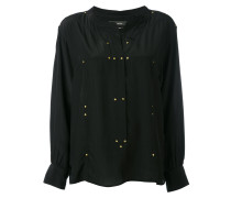 studded Otto blouse - women - Seide/Messing - 38