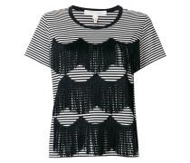 Gestreiftes T-Shirt mit Fransen