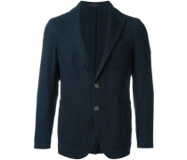 weave effect textured single breasted blazer
